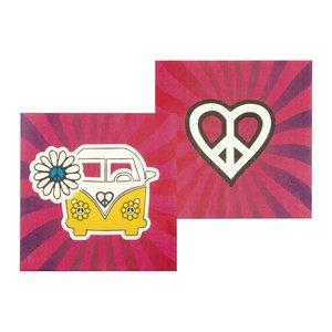 Hippie Party: Flower Power & Peace - 12er Set