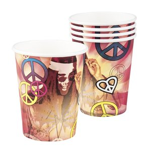 Hippie Party: Flower Power & Peace - 6er Set