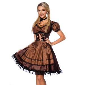Oktoberfest - Dirndl marrone includo blusa