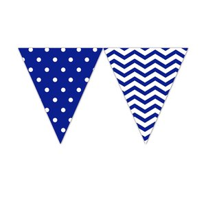 Blue Chevron - Wimpel