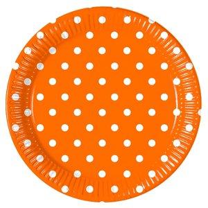 Orange Dots (8er Set)