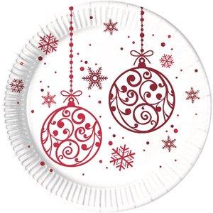 Weihnachten Christmas Red Balls (8er Set)