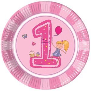 Girls First Birthday (8er Set)