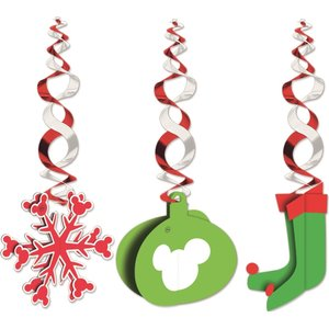 Mickey Christmas Nordic - Hanging Cut Outs
