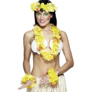 Blumenkette Hawaii (4er Set)