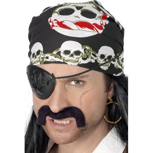 Piratenkopftuch mit Totenkopf