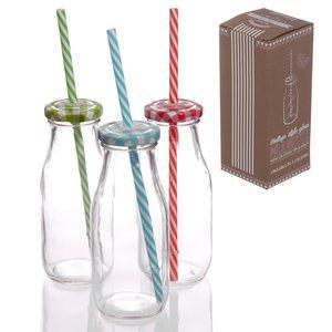 Retro Milchflasche (6er Set)