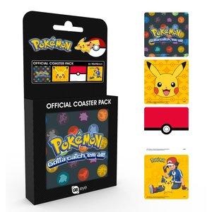 Pokémon: Pikachu, Ash e Pokéball (4 Pezzi)