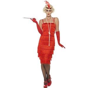 20er Jahre - Charleston - Flapper - Rotes Kleid