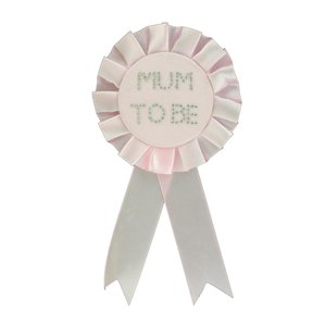 Babyparty: Mum to be - Rosette rosa
