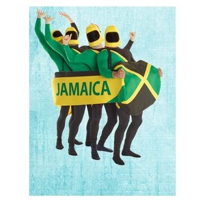 Jamaikanisches Bobteam -  Schlitten