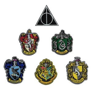 Harry Potter: Hauswappen (6er Set)