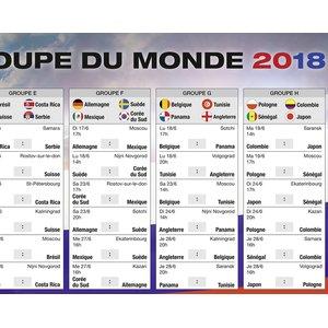 Calendrier de la Coupe du Monde 2018: Französisch
