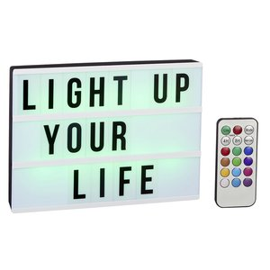 LED-Lightbox (A4 Größe) mit Farbwechsel