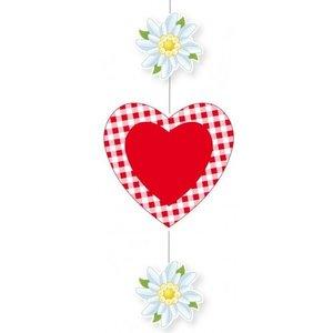 Oktoberfest: Bavarois avec coeur et edelweiss