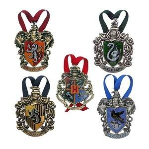 Harry Potter: Addobbi per l'albero di Natale Hogwarts 5 Pezzi