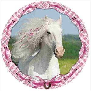 Tortenaufleger: Weisses Pferd