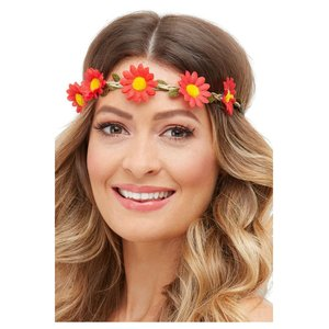 Hippie/Hawaii Stirnband mit Blumen 3er Set
