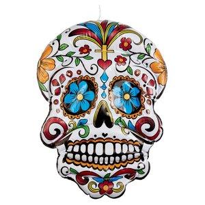 Tag der Toten Rote Rosen - Dia De Los Muertos: Totenkopf