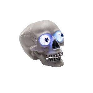 Leuchtender Totenkopf mit Augen