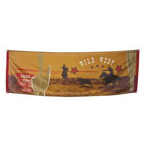 Wild West Banner - Wilder Westen Party