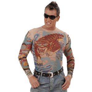 Camicia tatuaggio - tigre e drago