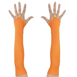 80er Jahre - Neon orange fingerlos