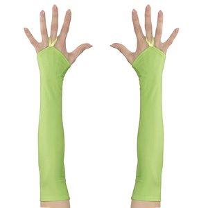 80er Jahre - Neon grün fingerlos