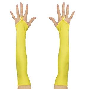 80er Jahre - Neon gelb fingerlos