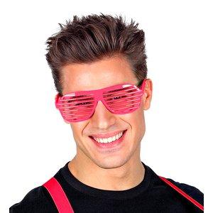 80er Jahre - Atzenbrille Neon