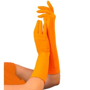 80er Jahre - Neon orange lang