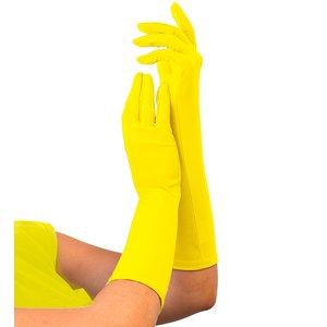 80er Jahre - Neon gelb lang