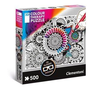 Fiori 3D - per colorare (500 pezzi)