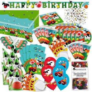 Bauernhof Tiere: Geburtstags-Box für 8 Kinder