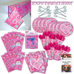 Princesse: Box d'anniversaire pour 8 enfants