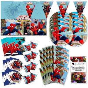 Spider Man: Box d'anniversaire pour 6 enfants