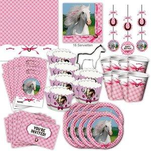 Weisses Pferd: Geburtstags-Box für 8 Kinder