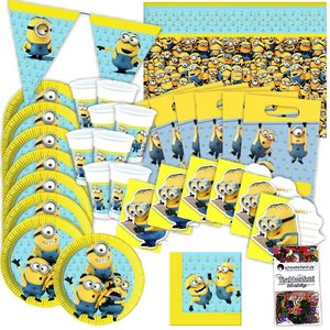 Minions: Box d'anniversaire pour 6 enfants