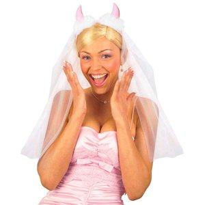 Brautschleier mit Teufelshörnern