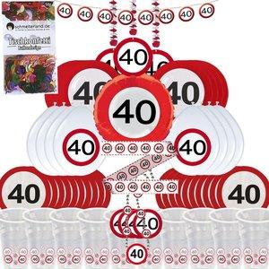 Cartello Stradale: Box per il 40. compleanno per 8 invitati