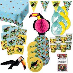 Tropical Summer: Box toucan pour 8 invités