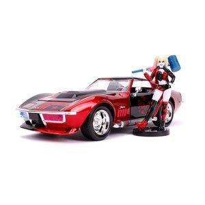 DC Comics: 1969 Chevy Corvette Stingray 1/24 mit Harley - Defekte Verpackung