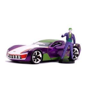 DC Comics: 2009 Chevy Corvette Stingray 1/24 mit Joker - Defekte Verpackung