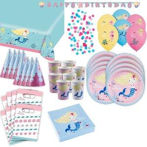 Sirena: Box per il compleanno per 8 bambini