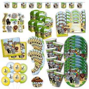 Zoo-Tiere: Geburtstags-Box für 8 Kinder