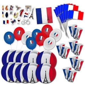 Frankreich-Party Box für 10 Gäste