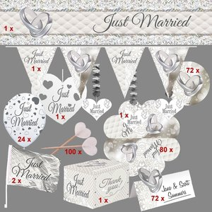 Just Married: Hochzeits-Box für 72 Gäste