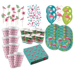 Pink Flamingo: Sommer-Party Box für 8 Gäste