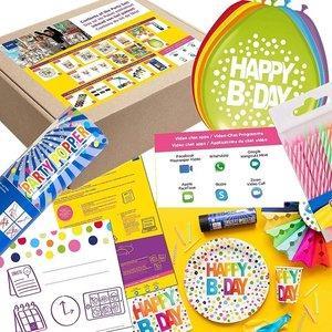 Online Birthday: Geburtstags-Box für 6 Gäste