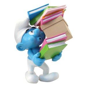 Les Schtroumpfs: Schtroumpf avec Pile de Livres